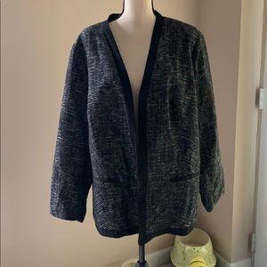 Avenue studio black/white open jacket
